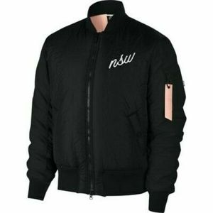Nike Men's Sportswear NSW Black Bomber Jacket